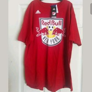 Adidas MLS New York Red Bull T-Shirt Men Size L